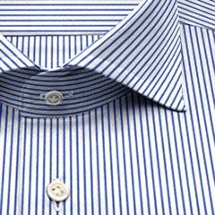 綿100,ストライプ,紺,ストライプ,パターンオーダー,PTODR綿 100%| パターンオーダーシャツ 濃紺 ストライプ