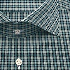 綿100,チェック,grn,ブルー,チェック,パターンオーダー,PTODR綿 100%| パターンオーダーシャツ グリーン × ブルー