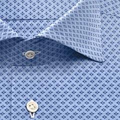 綿100,その他,ブルー,紺,ドット,パターンオーダー,PTODR綿 100%| パターンオーダーシャツ ブルー × 濃紺