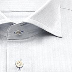 TC,ドビー,blc,ストライプ,パターンオーダー,PTODR綿 50% ポリエステル 50%|形態安定 パターンオーダーシャツ 白ドビー