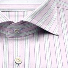 綿100,ストライプ,ppl,紺,パターンオーダー,PTODR綿 100%| パターンオーダーシャツ パープル × 濃紺